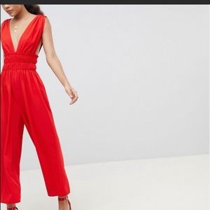 ASOS Tall plunge jumpsuit
